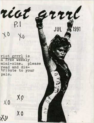 Riot Grrrl Zine Cover. Image: Rock & Roll Hall Of Fame Archive
